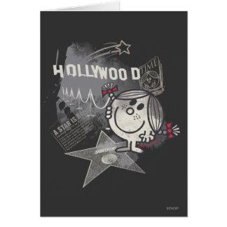 Pequeña Srta. Sunshine In Hollywood Tarjeta De Felicitación