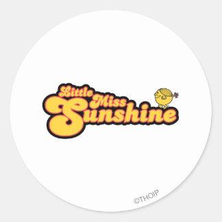 Pequeña Srta. Sunshine Logo 4 Etiqueta Redonda