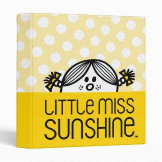 "Pequeña Srta. Sunshine Peeking Over Name Carpeta 1"""