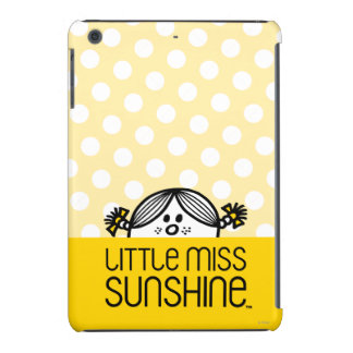 Pequeña Srta. Sunshine Peeking Over Name Funda Para iPad Mini