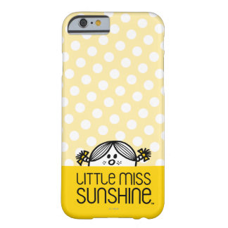Pequeña Srta. Sunshine Peeking Over Name Funda Para iPhone 6 Barely There