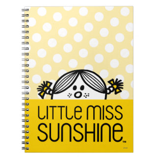Pequeña Srta. Sunshine Peeking Over Name Libreta Espiral