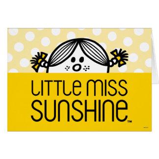 Pequeña Srta. Sunshine Peeking Over Name Tarjeta De Felicitación