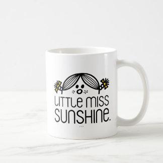 Pequeña Srta. Sunshine Peeking Over Name Taza