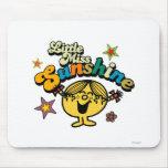 Pequeña Srta. Sunshine Stars y flores Tapetes De Ratones