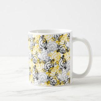 Pequeña Srta. Sunshine Yellow Character Pattern Taza De Café
