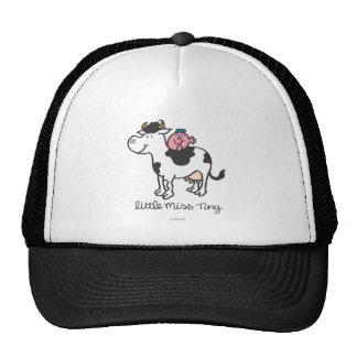 Pequeña Srta Tiny Perches Atop Cow Gorras De Camionero