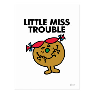 Pequeña Srta Trouble Classic 1 Tarjetas Postales