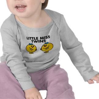 Pequeña Srta. Twins Classic Camisetas