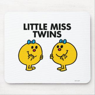 Pequeña Srta. Twins el | dos mucha diversión Alfombrilla De Ratón
