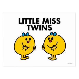 Pequeña Srta. Twins el   dos mucha diversión Tarjetas Postales