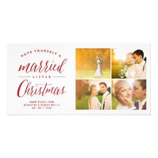 Pequeña tarjeta casada de la foto del día de tarjetas con fotos personalizadas