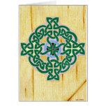 Pequeña tarjeta (combinada) de la cruz céltica