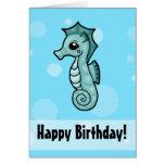 Pequeña tarjeta de cumpleaños del Seahorse