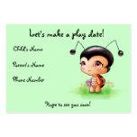 Pequeña tarjeta de fecha del juego del chica de la plantilla de tarjeta de negocio