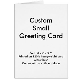 Pequeña tarjeta de felicitación de encargo -