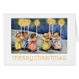 Pequeña tarjeta de felicitación de los ángeles de