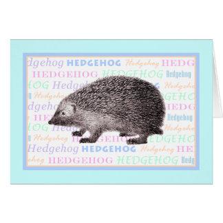 Pequeña tarjeta de felicitación del erizo