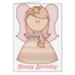 Pequeña tarjeta de hadas 2b del feliz cumpleaños d