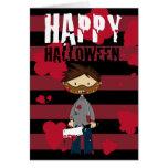 Pequeña tarjeta de Halloween del asesino