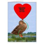 Pequeña tarjeta de la tarjeta del día de San Valen