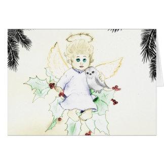 Pequeña tarjeta de Navidad alemana del ángel