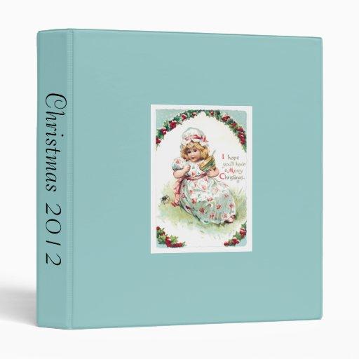 "Pequeña tarjeta de Navidad de Srta. Muffet Vintage Carpeta 1"""