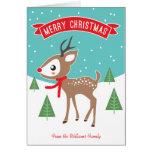 Pequeña tarjeta de Navidad del reno
