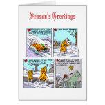 Pequeña tarjeta de Navidad enérgica