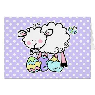 Pequeña tarjeta de pascua del cordero