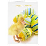 pequeña tarjeta de pascua del pato