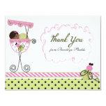 Pequeña tarjeta de señora Ladybug Theme Thank You Invitación 10,8 X 13,9 Cm