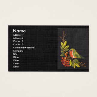 Pequeña tarjeta de visita del pájaro
