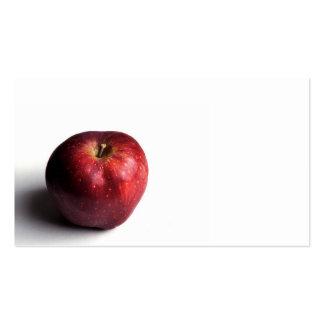 Pequeña tarjeta de visita roja de Apple