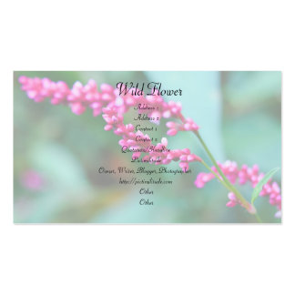 Pequeña tarjeta de visita rosada de las flores