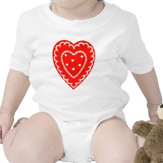 Pequeña tarjeta del día de San Valentín bonita Trajes De Bebé