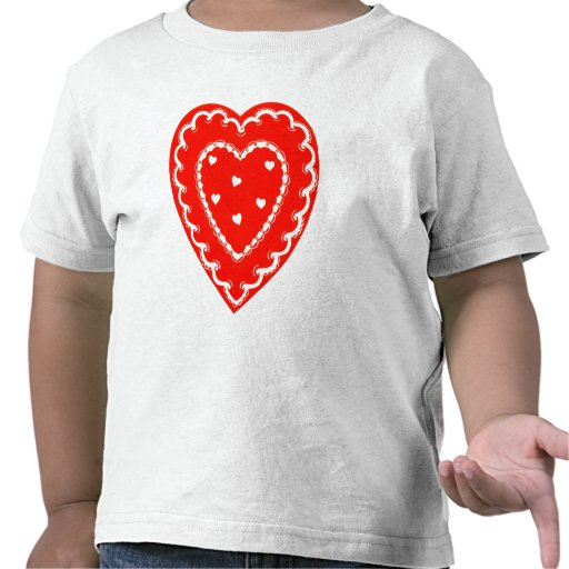 Pequeña tarjeta del día de San Valentín bonita Camiseta