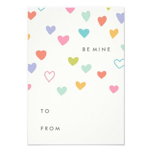 Pequeña tarjeta del el día de San Valentín de la s Comunicado