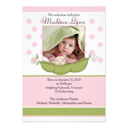 Pequeña tarjeta dulce de la invitación de la foto