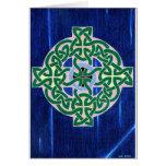 Pequeña tarjeta (negativa) de la cruz céltica