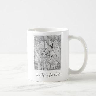 """Pequeña taza de café del """"tigre gris"""""""