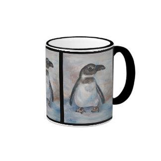 Pequeña taza fría del pingüino