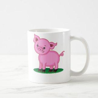 Pequeña taza linda del cerdo