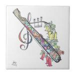 pequeña teja:  flauta