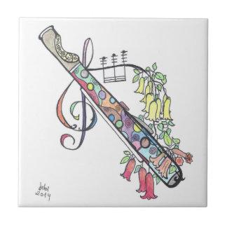 pequeña teja flauta
