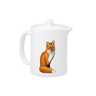 Pequeña tetera roja salvaje del Fox