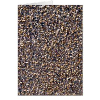 Pequeña textura colorida de las piedras del guijar felicitaciones