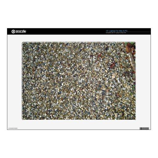 Pequeña textura de la piedra del guijarro calcomanía para 38,1cm portátil