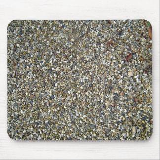 Pequeña textura de la piedra del guijarro tapete de ratones