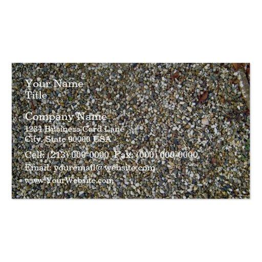 Pequeña textura de la piedra del guijarro tarjetas personales